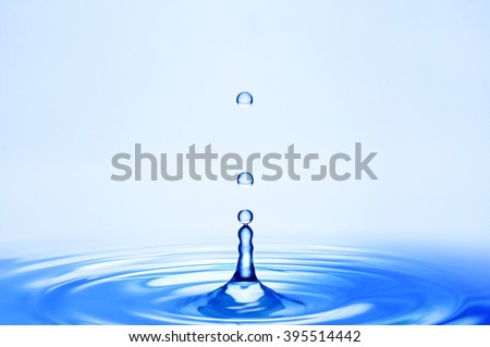 Ripples and water droplets