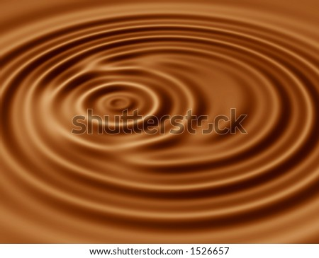 Ripples in hot chocolate - stock photo
