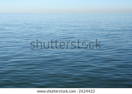 Ripples in the Ocean - stock photo