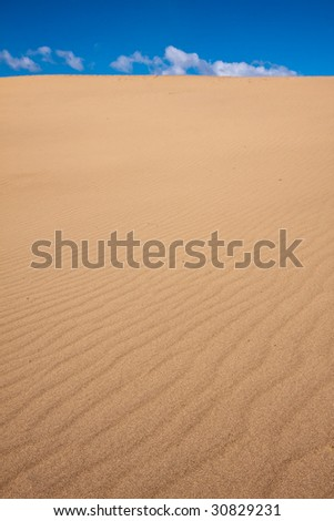 Ripples in the Sand Dunes of Death Valley National Park - stock photo
