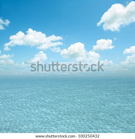 Ripples on the surface of the ocean - stock photo