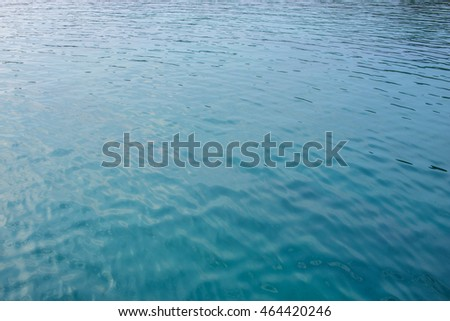 ripples on the water surface with reflection of sky, texture of nature, background