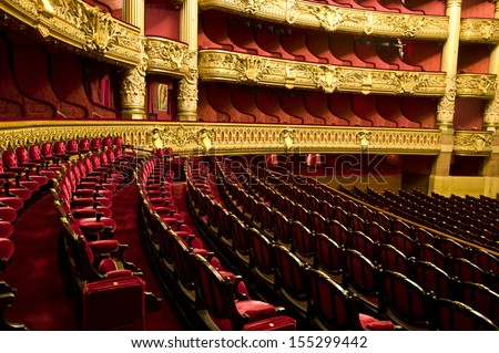 RIS - DECEMBER 22 : An interior view of Opera de Paris, Palais Garnier, is shown on DECEMBER 22, 2012 in Paris. It was built from 1861 to 1875 for the Paris Opera house.