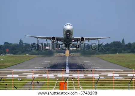 Rise of the jet passenger liner - stock photo