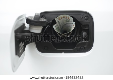Rising gas prices - stock photo