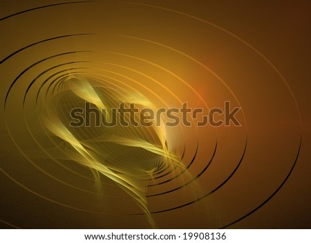 Rising Oil, abstract rendering in warm colors - stock photo