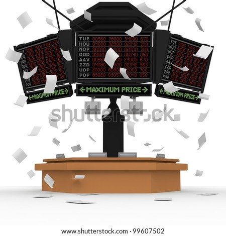 Rising prices(behind) - stock photo
