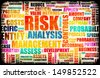 Risk Analysis Concept Word Cloud as Background - stock photo