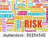 Risk Analysis Concept Word Cloud as Background - stock vector
