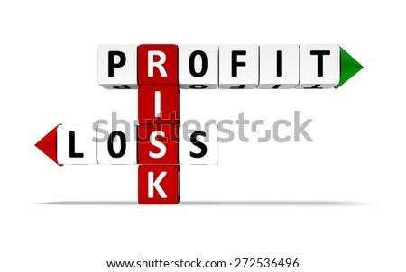 Risk. 3D. Risk Crossword II - stock photo