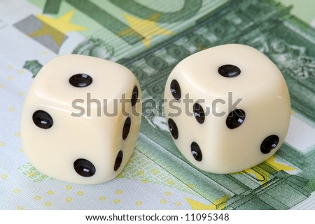 Risk factor in euro investments - stock photo