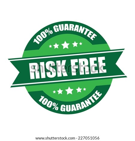 Risk Free 100% Satisfaction Promotional Sale Green Tag, Sticker or Badge, High product Quality Guaranteed.