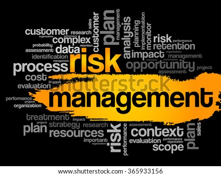 Risk Management word cloud, business concept - stock photo