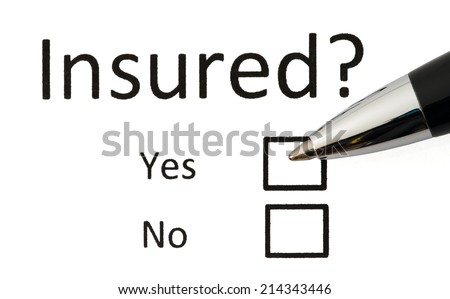 Risk or insurance business concept and black pen. - stock photo