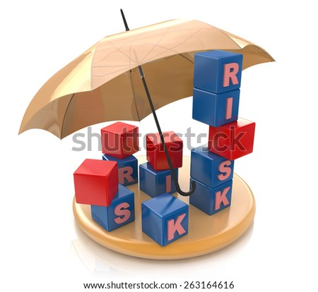 Risk protection Concept  - stock photo