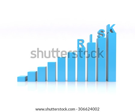 Risk text on growth chart. - stock photo