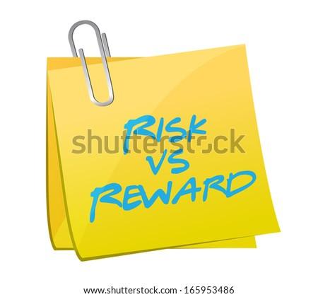 risk vs reward note illustration design over a white background - stock photo