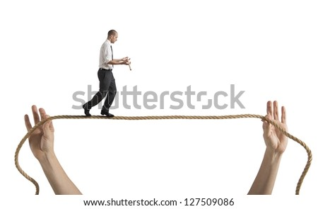 Risks and challenges of business life concept - stock photo