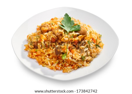 risotto on white plate