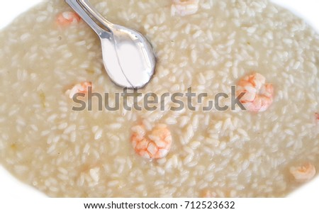 risotto with asparagus and shrimp
