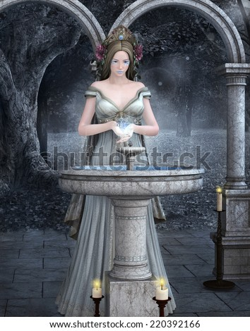 Rite of water - stock photo