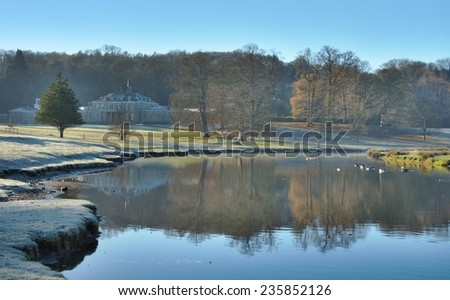 River Bela on a Cold Frosty Morning - stock photo