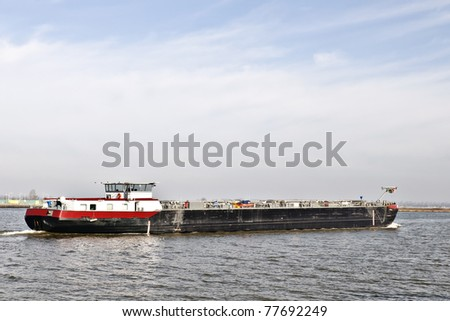 river boat with cargo