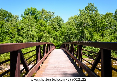 River Bridge at High Allegheny - stock photo