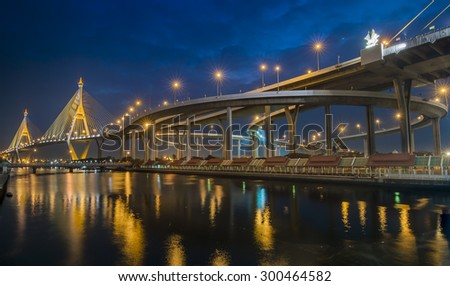 River Bridge in Bangkok