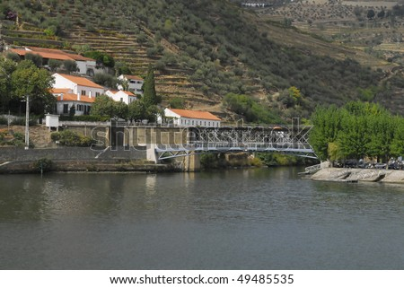River  Douro - Pinhao city - Portugal - Europe - stock photo
