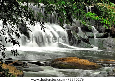 River falls in Vestchester county state New York in the USA - stock photo