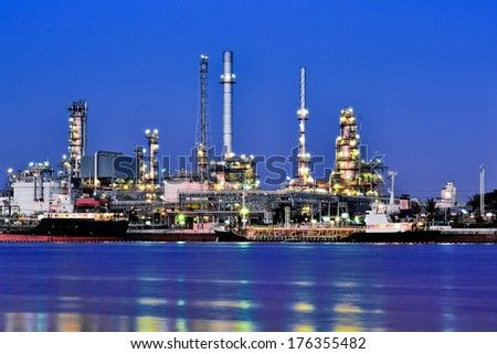 River front Oil and gas refinery plant