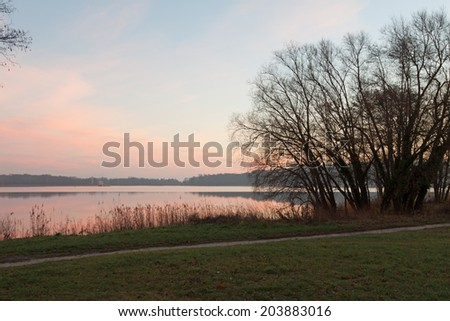 river Havel with trees, Germany