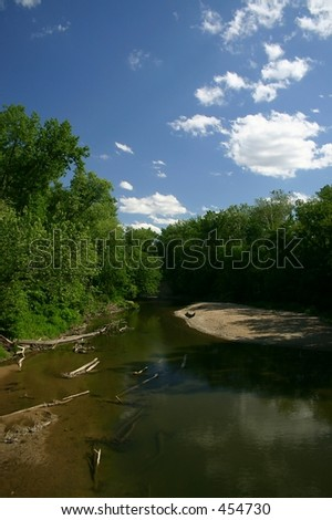River in Central Illinois - stock photo