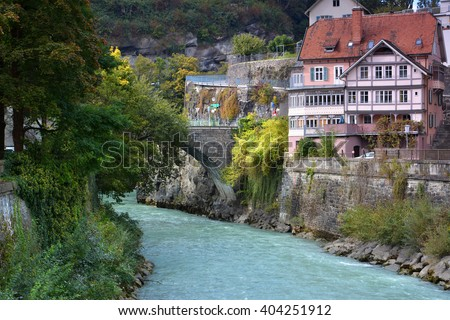 river in Feldkirch, Austria in Europe