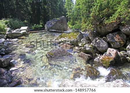 River in High Tatras mountains, Slovakia