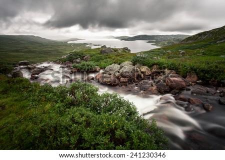 River in Jotunheimen, Norway - stock photo