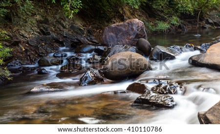 River in Khao Sok National Park / Surat Thani Province, Thailand.