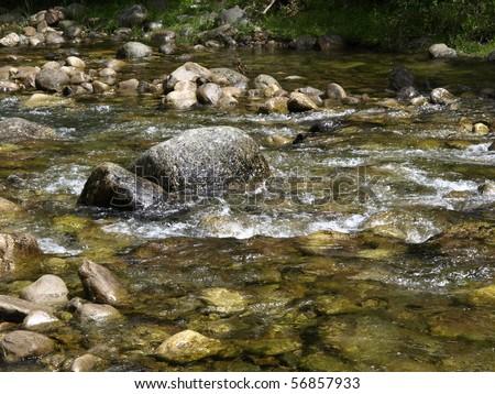 river in la rioja - stock photo