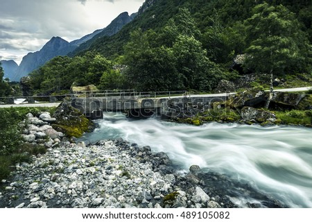 River in mountains of Norway