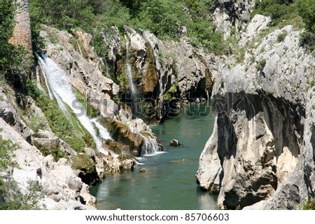 River in the Cévennes National Park, France - stock photo