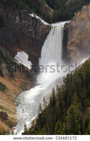 River in the canyon of Yellowstone national park, Wyoming