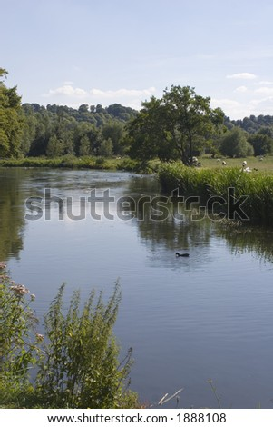 River in the English countryside