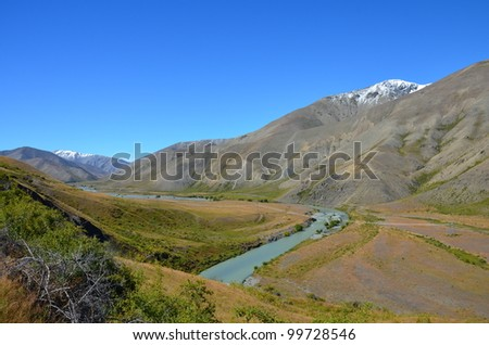River in the Moles worth station - stock photo