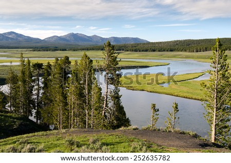 River in Yellowstone National Park in Wyoming - stock photo