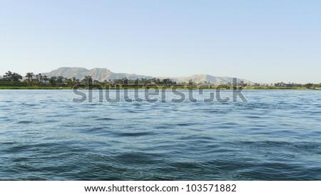 River Nile in Egypt - stock photo