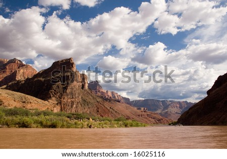River Raft in Grand Canyon - stock photo