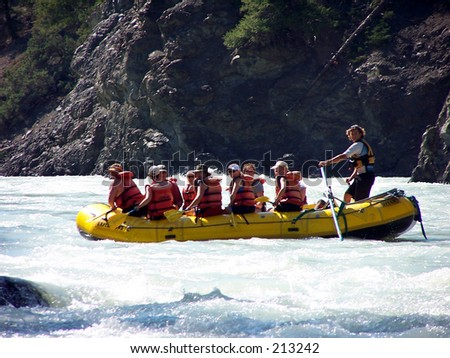 River Rafting - stock photo
