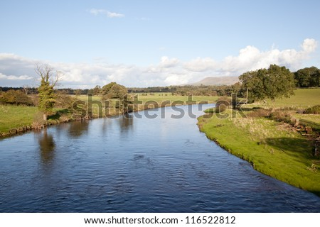 River Ribble in Lancashire, England, UK