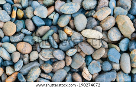 river rocks background - stock photo